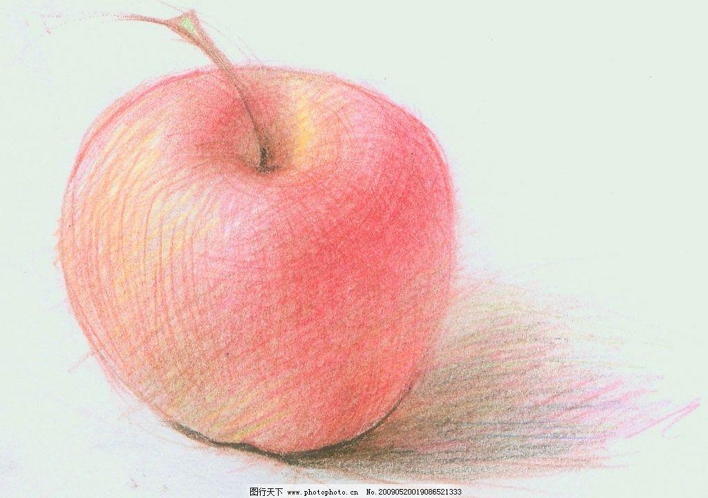手绘苹果 红苹果 卡通 漫画 素描 创作 可爱 其他 图片素材