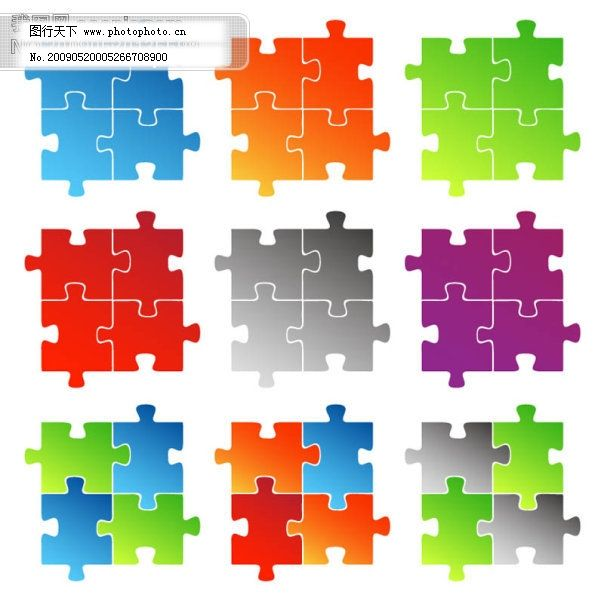 sxzj eps 矢量图标 网页设计 拼图 形状 矢量图 矢量花纹矢量花边底纹