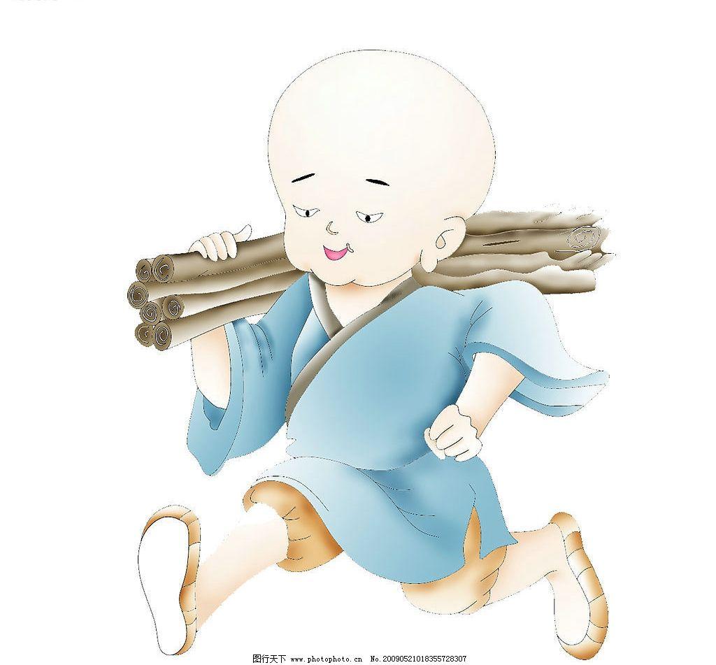 和尚 小和尚 卡通 动漫人物 动漫动画 设计图库 120dpi jpg