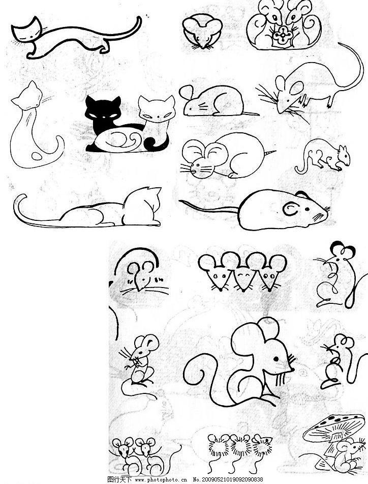 小猫 老鼠图片_绘画书法_文化艺术_图行天下图库