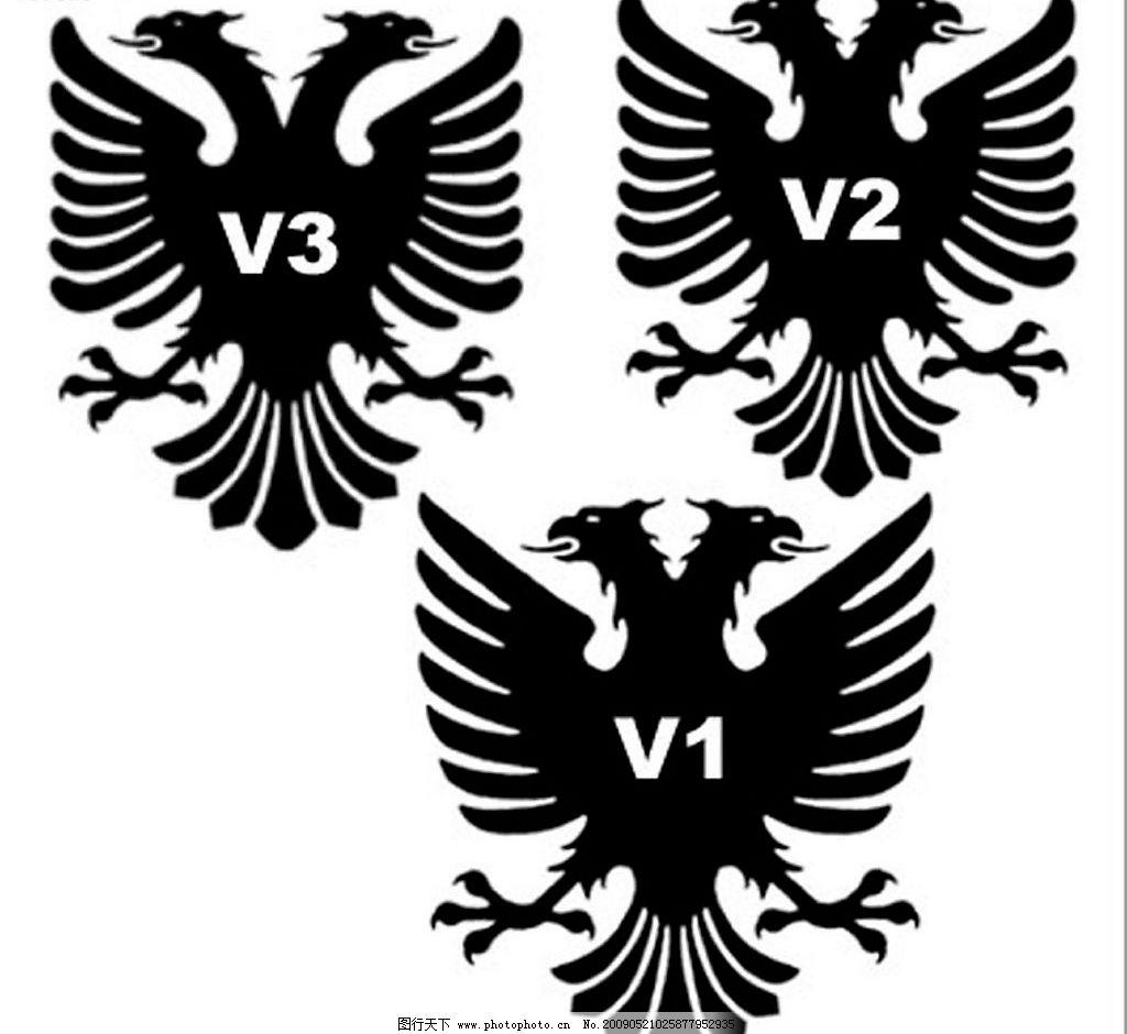 笔刷 双头鹰 双头鹰笔刷 标志 徽章制作 图案 动物笔刷 源文件库