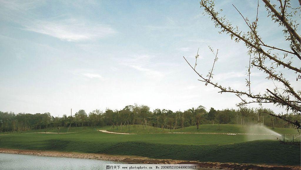 春天风景 春天 风景 绿色 草地 蓝天 白云 自然 自然景观 山水风景