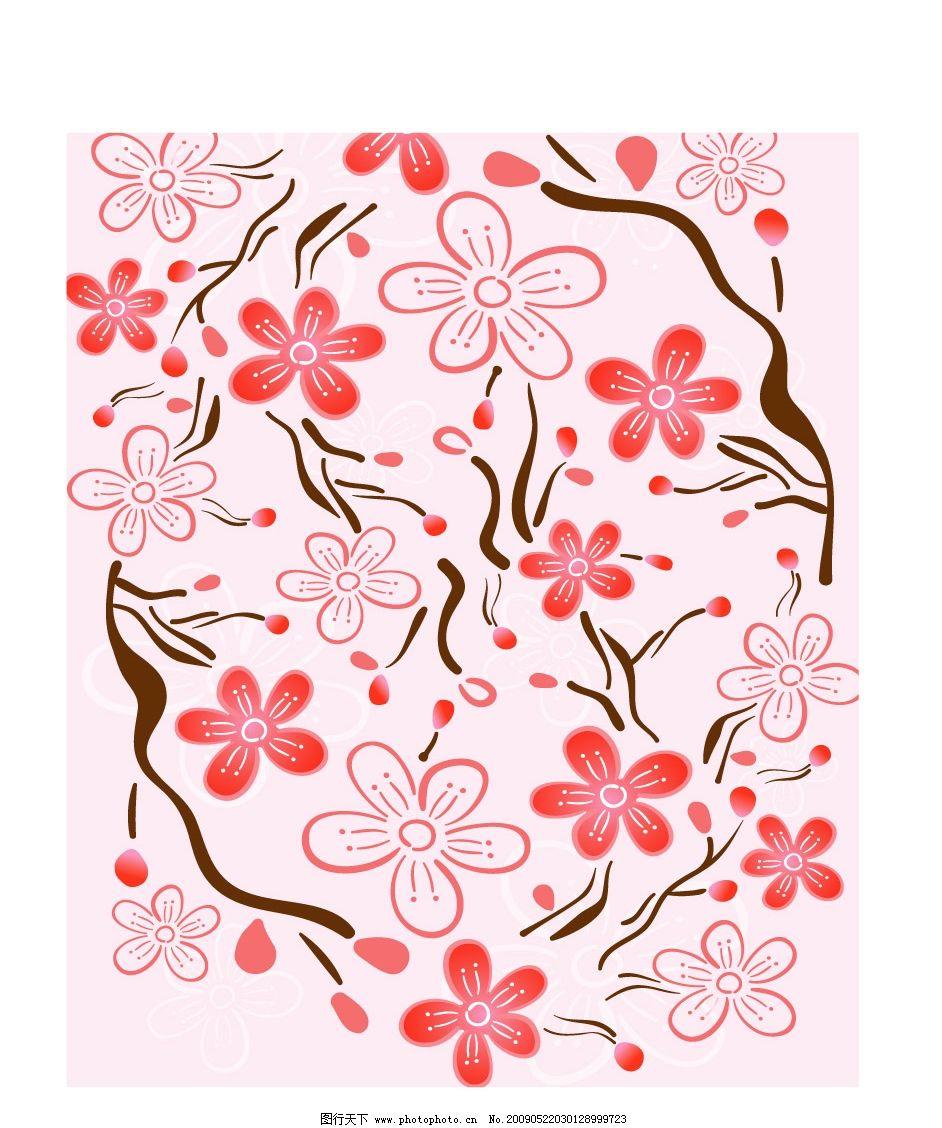一盆梅花树和树枝上的喜鹊黑白图