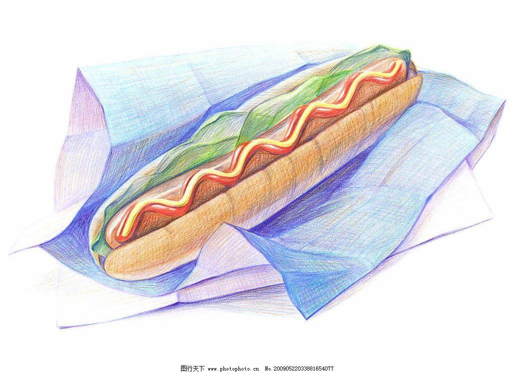 绘画 美食 菜谱图片
