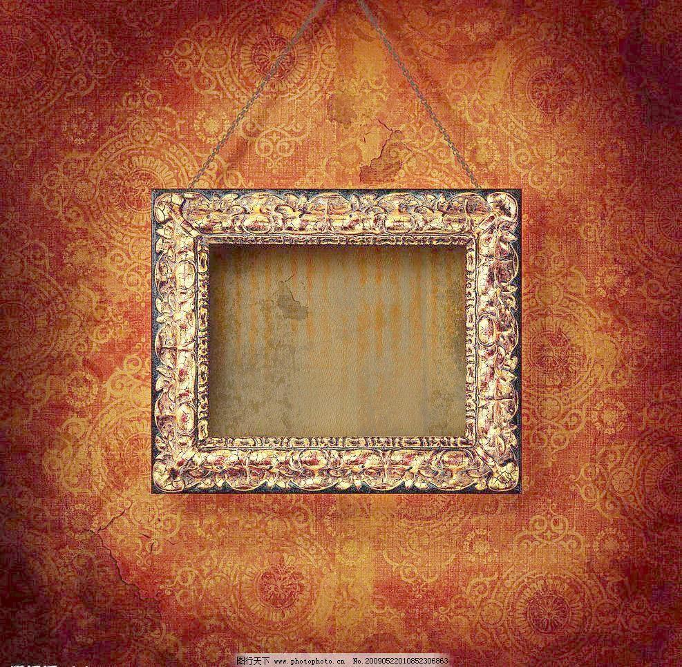 高清晰欧式华丽画框素材图片