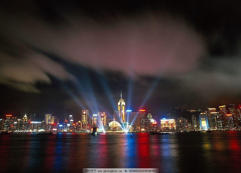 都市夜景 城市 繁華 高樓大廈 燈火輝煌 夜空 亮光 背景素材