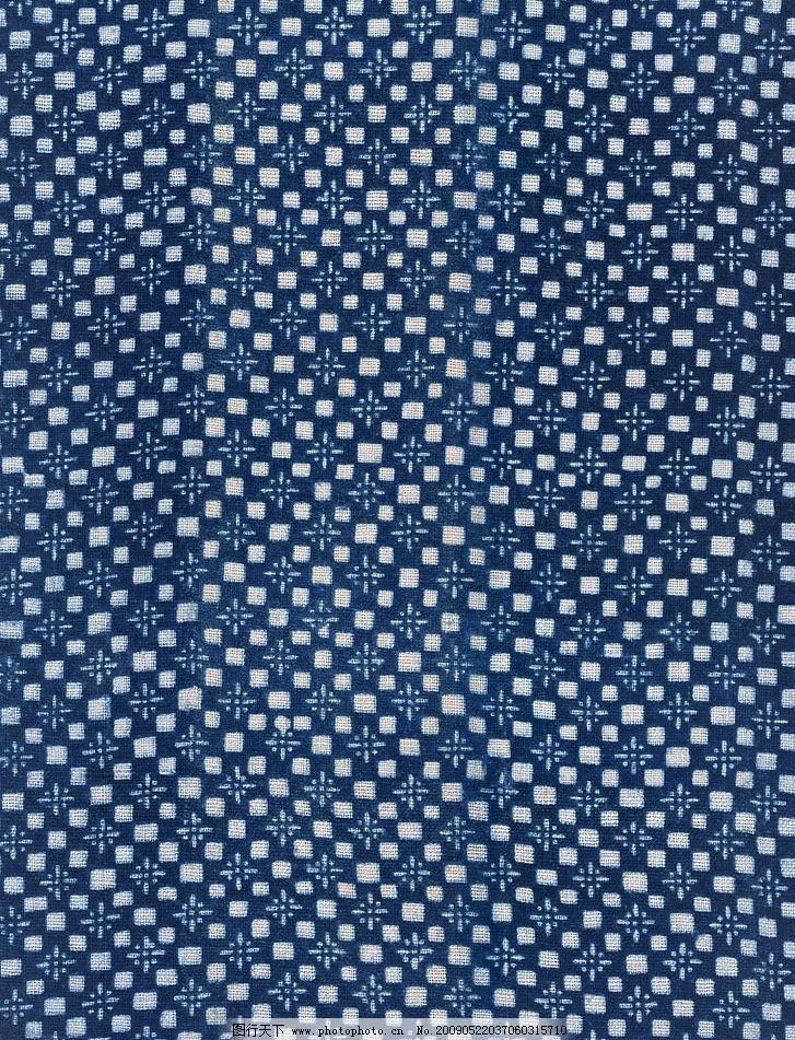 深蓝色布料材质贴图 深蓝色布料 方形连续图案 材质贴图 花纹 cg作品