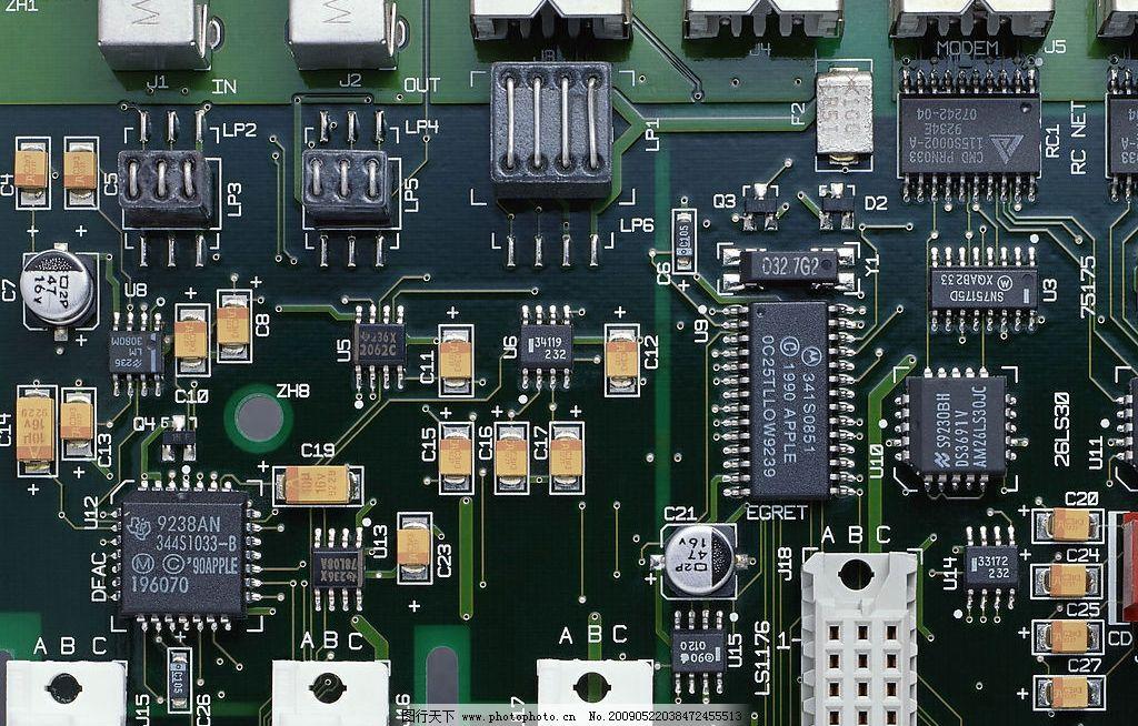电路板 现代 科技 电脑 主机 摄影图库