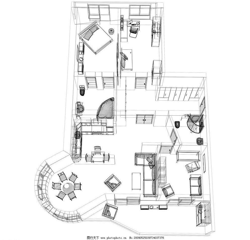 图纸21 房屋 结构 线描 图纸 建筑园林 其他 摄影图库 72dpi jpg