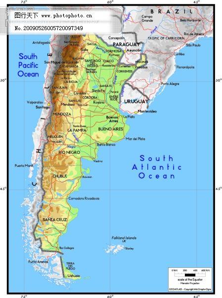 阿根廷 矢量地理版图