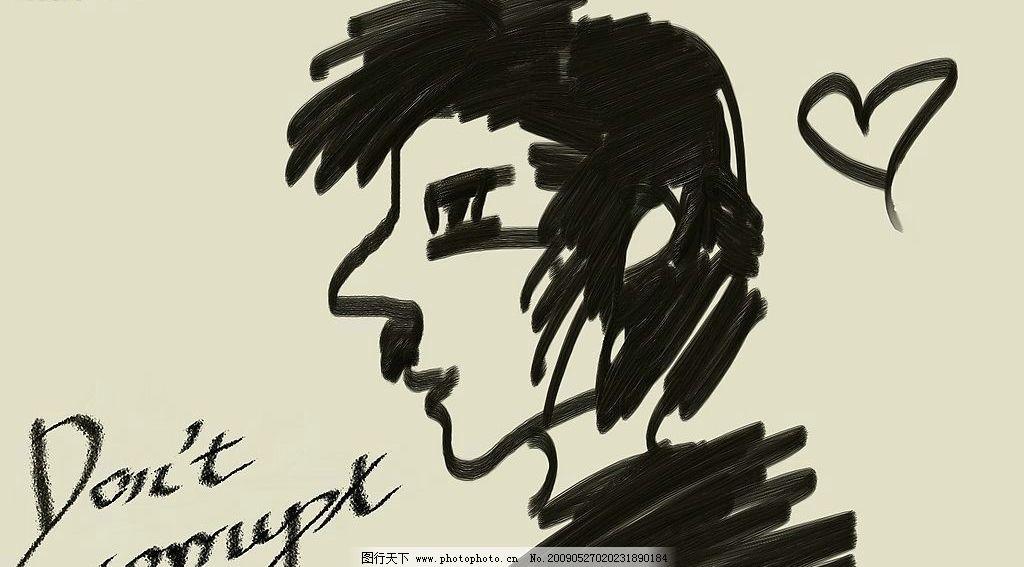 手绘原创简单的桌面 桌面 随性 人物 手绘 底纹边框 背景底纹 设计
