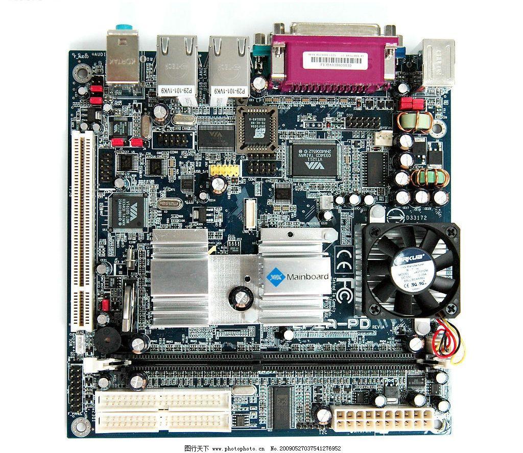 电脑主板 主板 配件 电脑配件 电子产品 电路 插槽 高清晰 生活百科