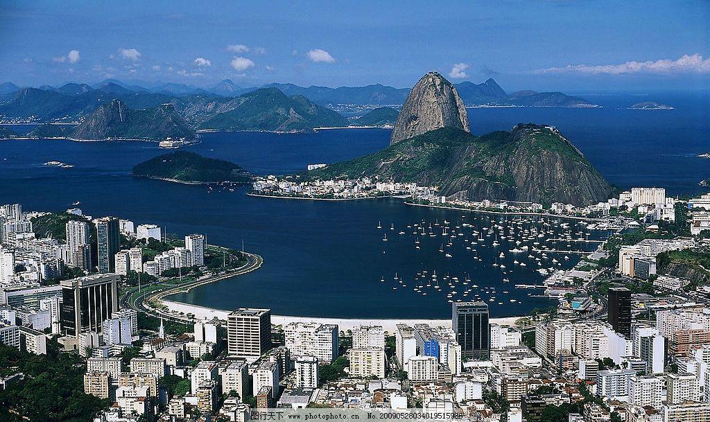 俯瞰 高楼 群山 蓝天 白云 大海 城市 船只 旅游摄影 国外旅游 摄影