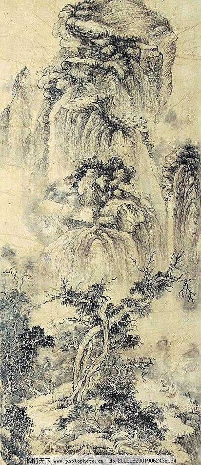 古画 古代山水画 国画 中国画 绘画 文化艺术 绘画书法 设计图库 72