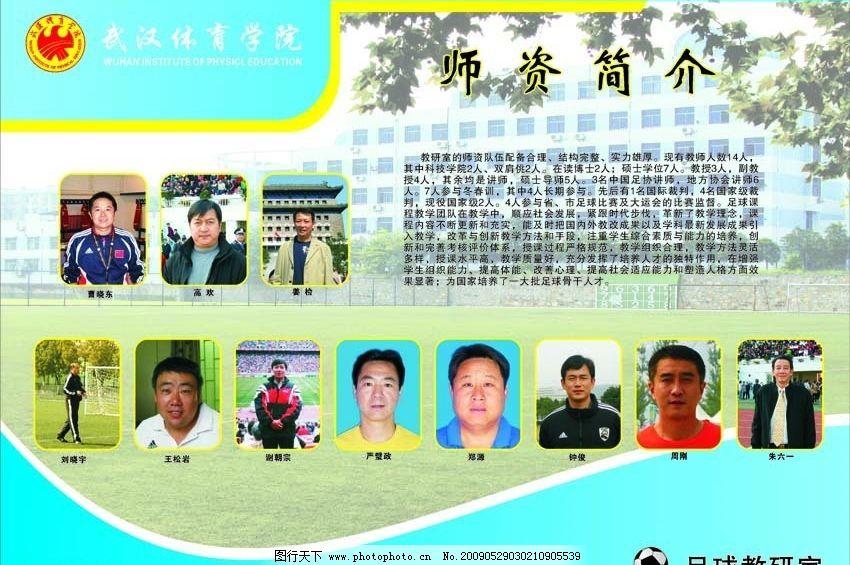 武汉体育学院展板 武汉体院 足球教研室 足球 展板 广告设计 展板模