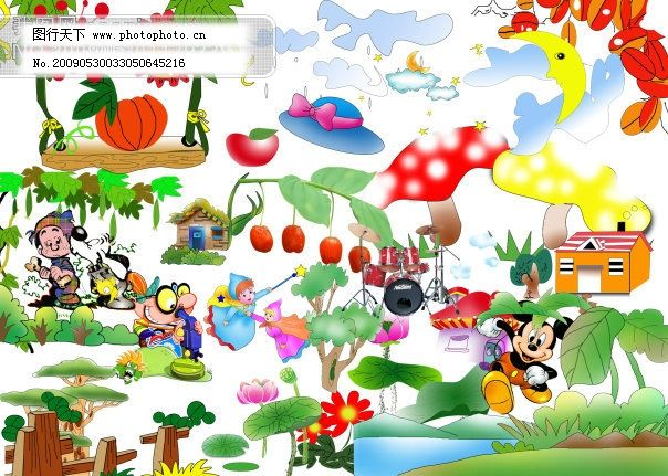 卡通小动物 psd素材|psd文件|psd源文件 卡通边框|卡通图片 其他psd