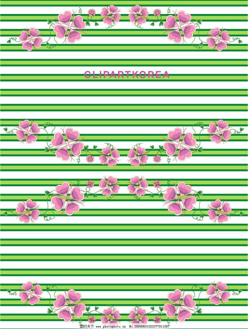 炫彩条纹花朵背景图片