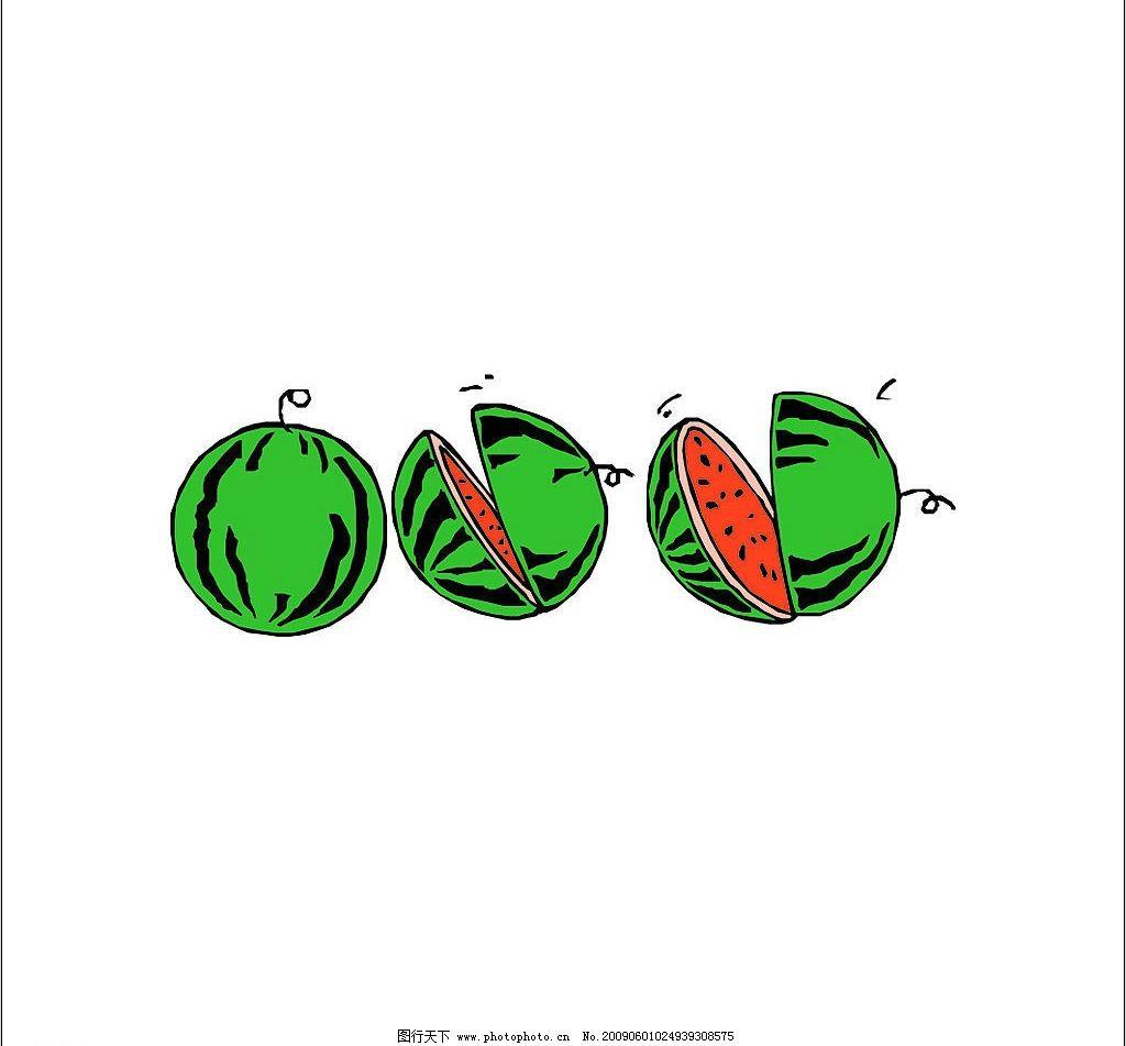 夏天 休闲 西瓜 其他矢量 矢量素材 矢量图库 ai 生物世界 水果