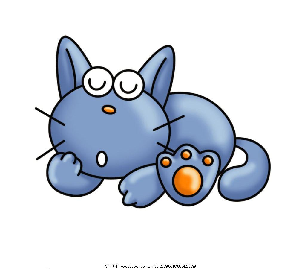小猫睡觉 卡通 漫画 动漫 可爱 源文件库