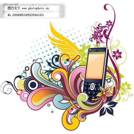 矢量花边免费下载 翅膀 矢量手机 矢量图 矢量花纹矢量花边底纹边框
