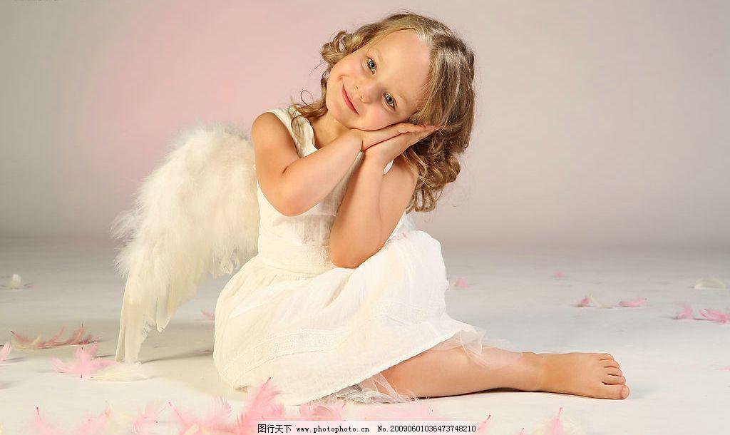 可爱小女孩 孩子