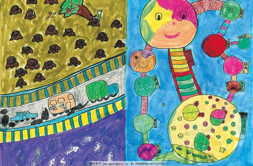 儿童环保绘画图片图片