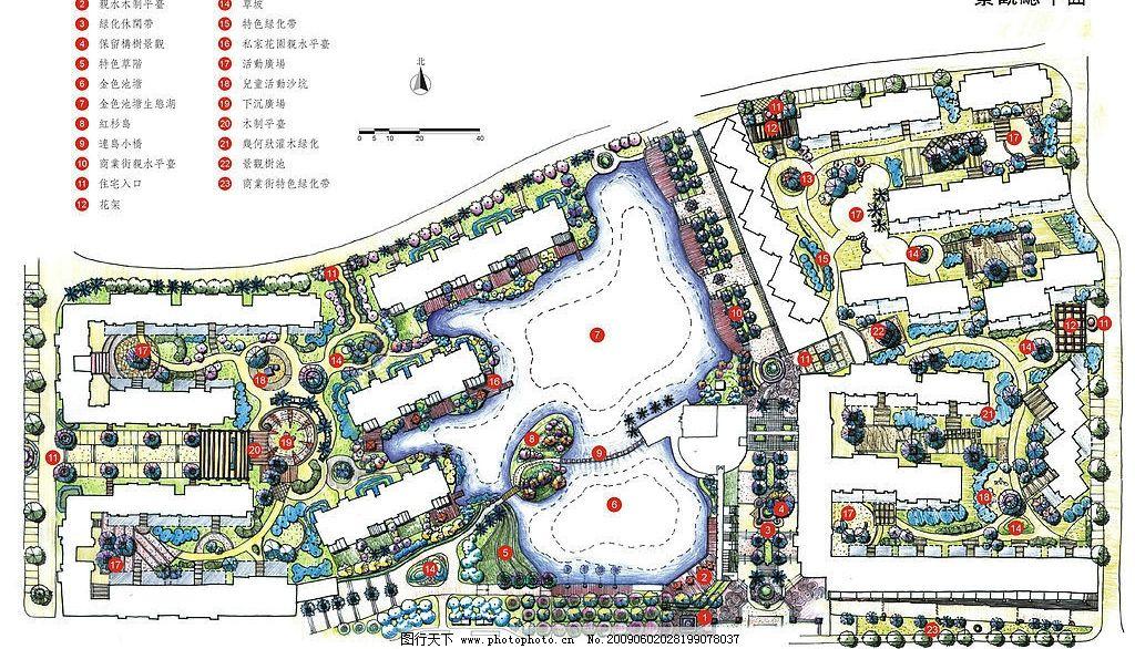 合肥金色池塘平面图 景观设计 平面 环境设计 设计图库 150dpi jpg