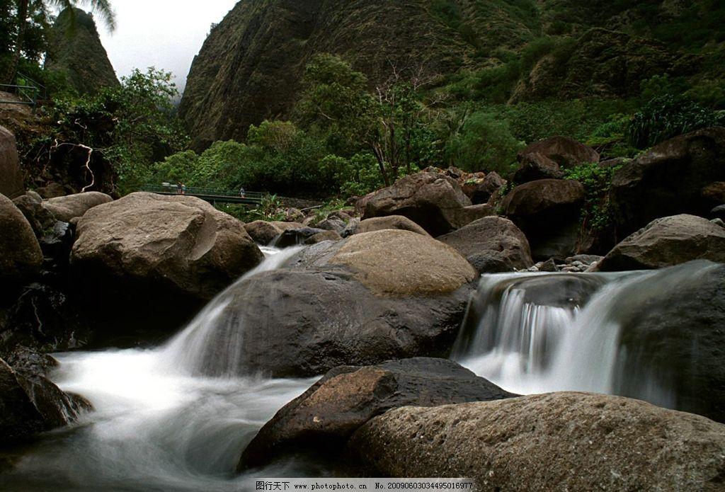 山水风景图片 jpg 自然景观 摄影图库 3461dpi 溪水 山石 石头