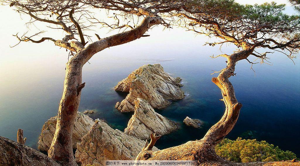 风景画 山树水 自然 唯美 阳光 摄影图库
