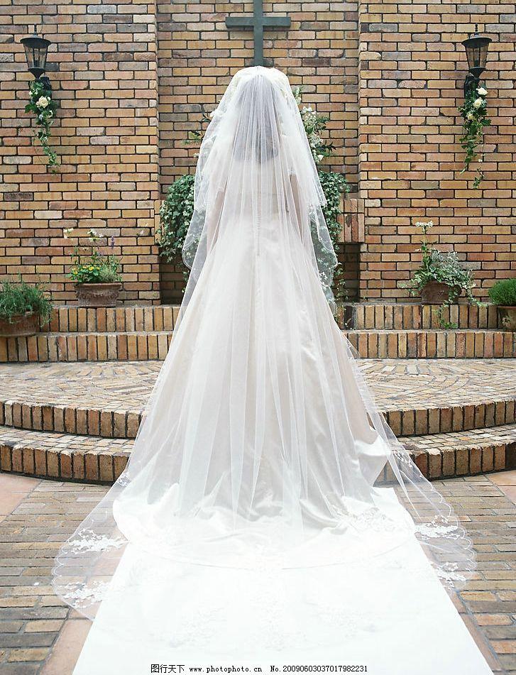 新娘背影图片
