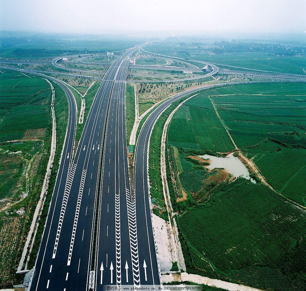 高速公路 高速立交 高空拍摄 建筑园林 其他 摄影图库 150dpi jpg