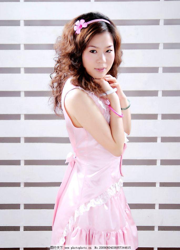 可爱女人 美女 粉红 粉红美女 人物图库 女性女人 摄影图库 300dpi