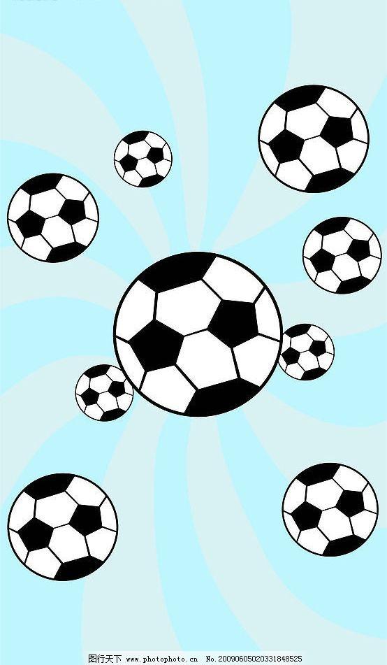 足球花纹的边框