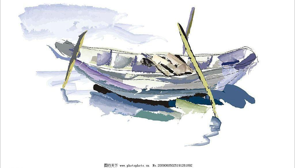 水彩木船 水彩 木船 舟
