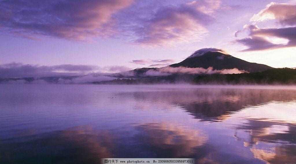 紫色海岛图片