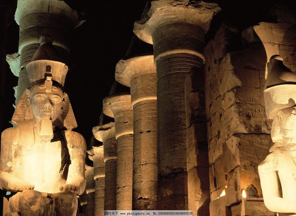 埃及石像 法老 埃及 文化遗产 石雕 自然景观 风景名胜 摄影图库 350