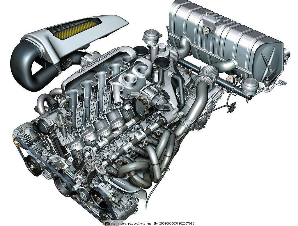 发动机 汽车发动机 三维 结构图 冲程 现代科技 工业生产 摄影图库