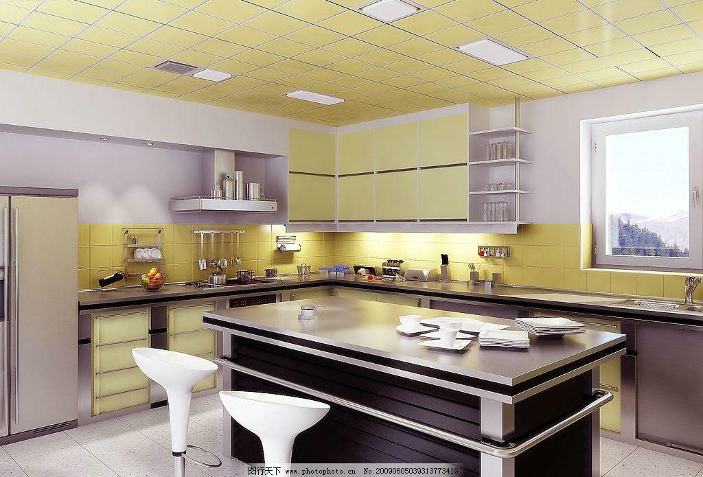 吊顶 厨房装饰 其他 图片素材 摄影图库 300dpi jpg 建筑园林 室内