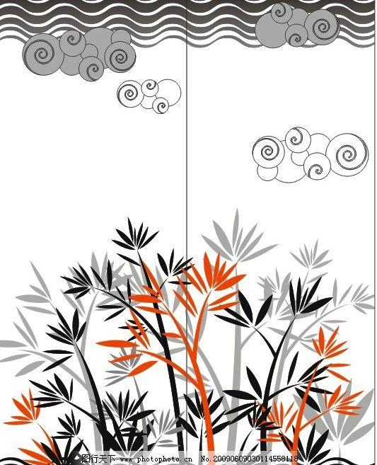 移门系列 竹子 移门大全 矢量竹 缤纷竹 广告设计 移门图案 矢量图库