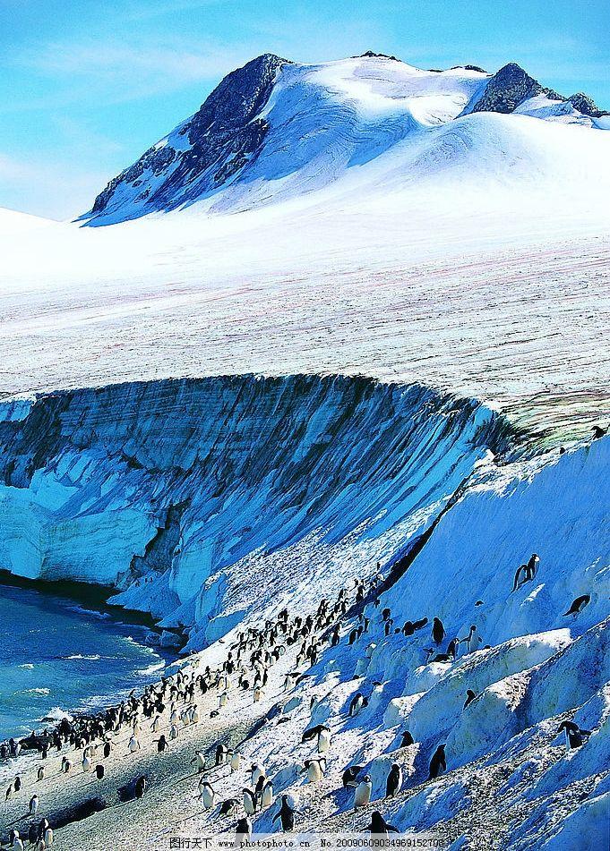 冰山 北极 冰川 企鹅 海洋 天空 摄影图 高精图 自然景观 其他 摄影