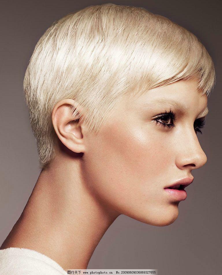 时尚发型 女性 模特 发型 美发 时尚 短发 酷 造型 中性 人物图库图片