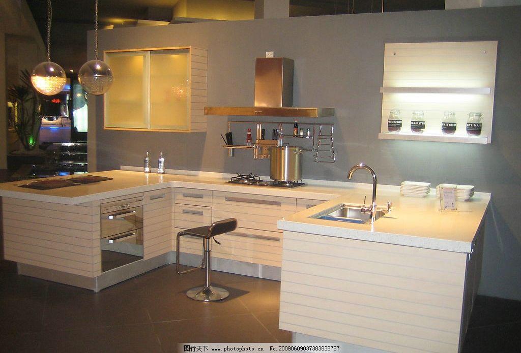 整体橱柜样品 橱柜 消毒柜 吸油烟机 燃器灶 吊灯 水槽 厨房用品 生活