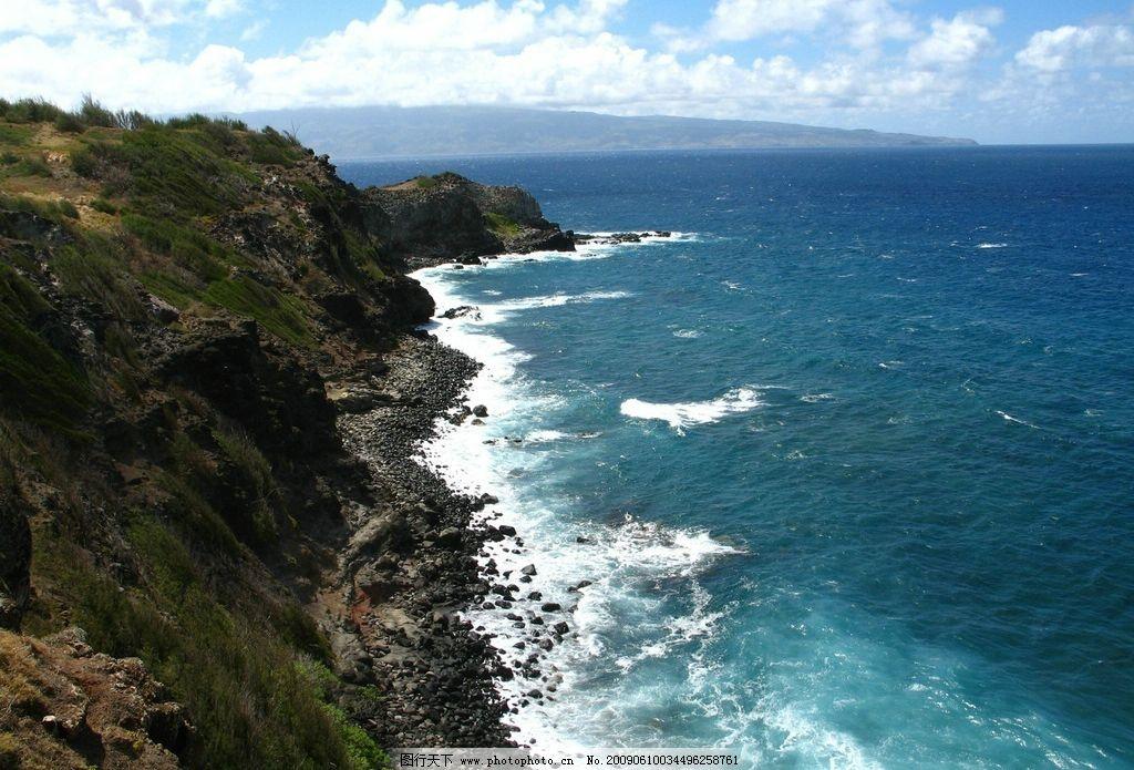 大海 山 自然景观 山水风景 摄影图库 72dpi jpg