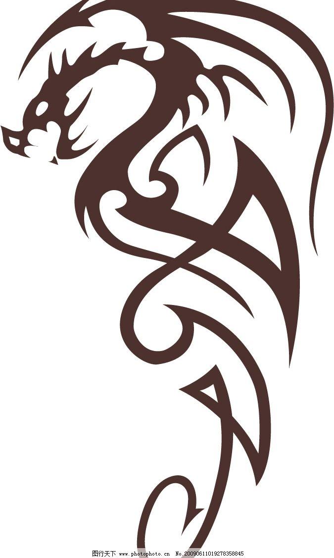 龙纹身图腾图片