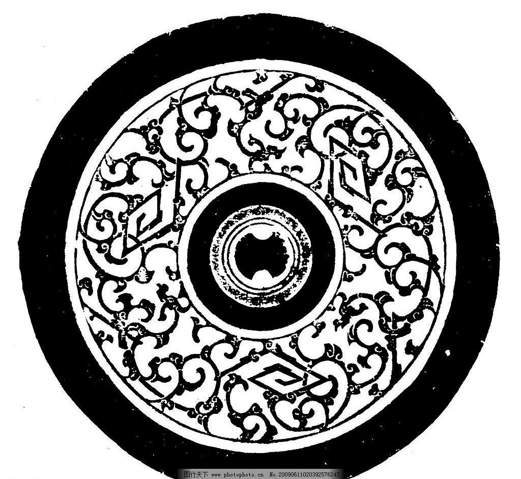 秦汉素材 秦朝 汉朝 汉代 古代 古典 图案 花边 底纹 黑白 底纹边框