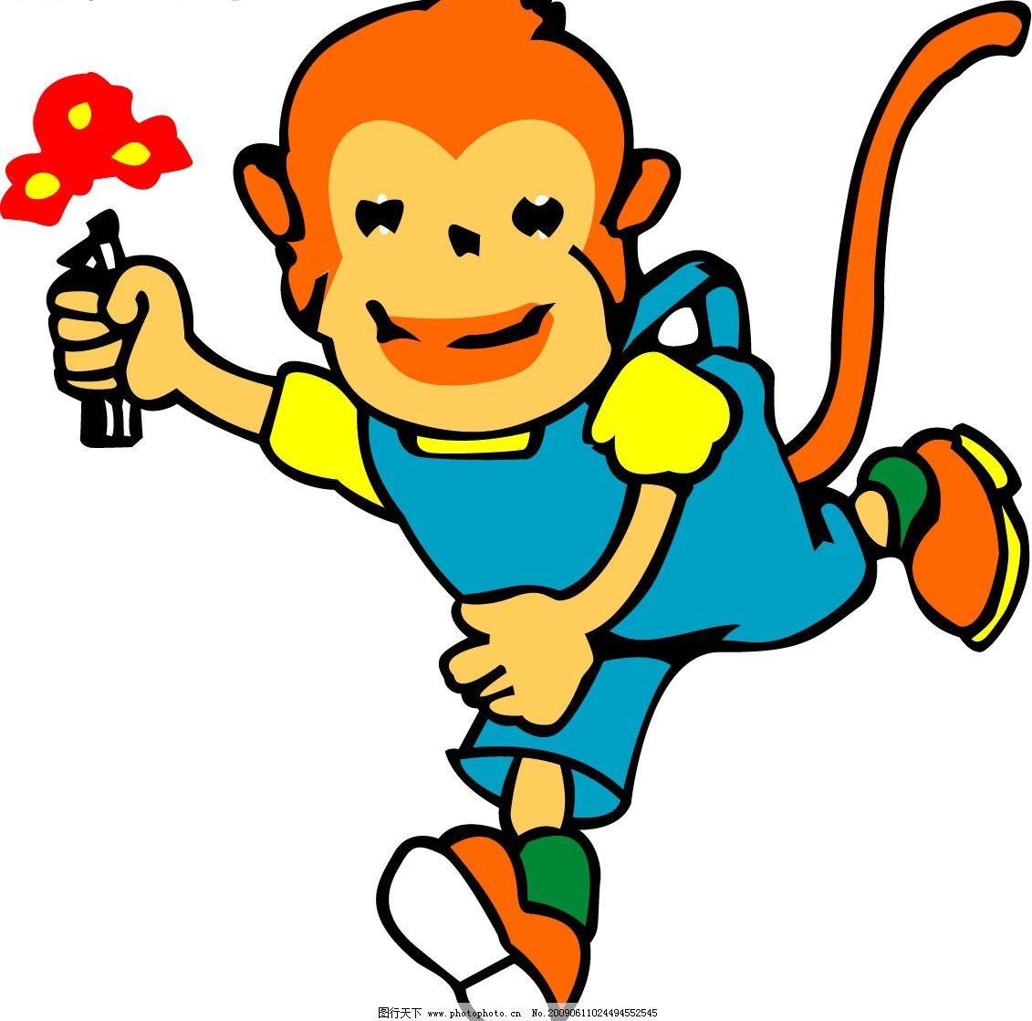 拿花小猴子图片