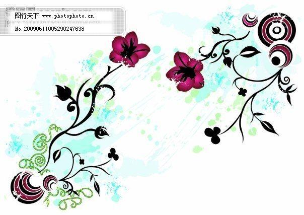 花纹 矢量图 花纹 矢量图 矢量花纹|矢量花边|底纹边框 花纹素材|花
