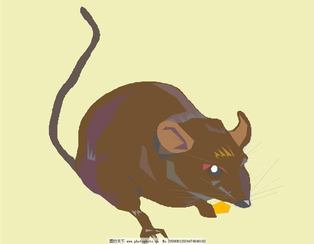 老鼠 鼠 田鼠 生物世界 野生动物 矢量图库 wmf