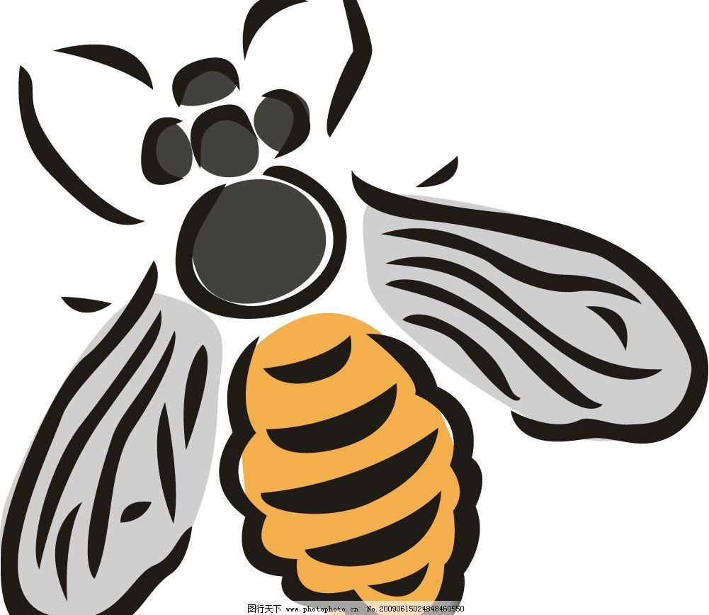 昆虫 蜜蜂 矢量图库
