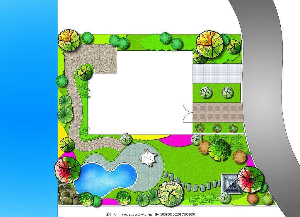 环境设计树木平面图